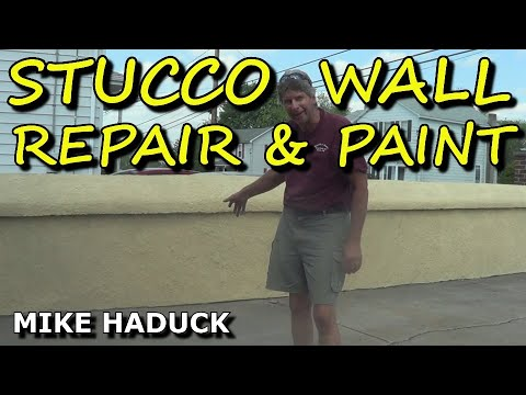 stucco wall repair and paint (Mike Haduck)