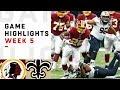 Redskins Vs Saints Week 5 Highlights NFL 2018 mp3