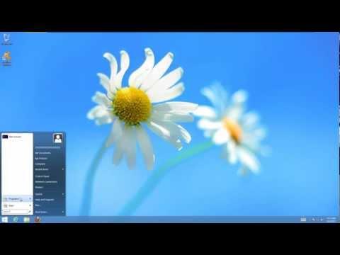 How to get the start button back on Windows 8 desktop (Programs menu, search bar, shutdown, etc)