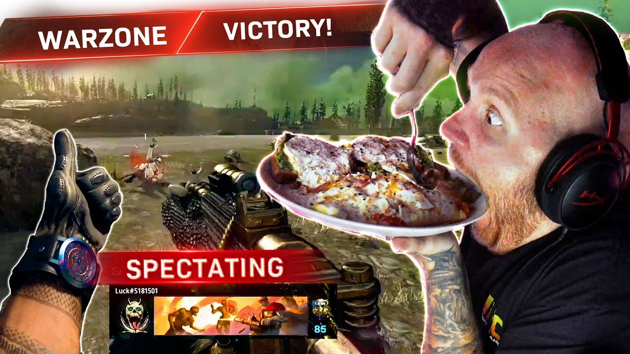 I SPECTATED WARZONE SOLOS WHILE EATING... (PART 2)