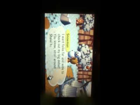 Built a snowman on Animal Crossing: City Folk for Wii