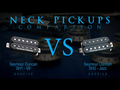 SEYMOUR DUNCAN SH1 / 59' vs SH2 JAZZ - Passive NECK Guitar Pickup Tone  Comparison / Review
