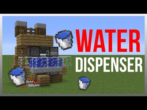 Minecraft 1.12: Redstone Tutorial - Hipster Water Dispenser!