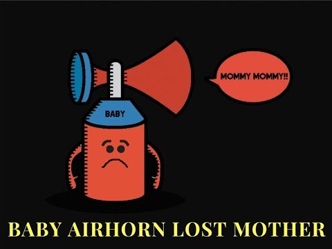 Baby Airhorn Cries For His Mother (DJ Club Party Music)