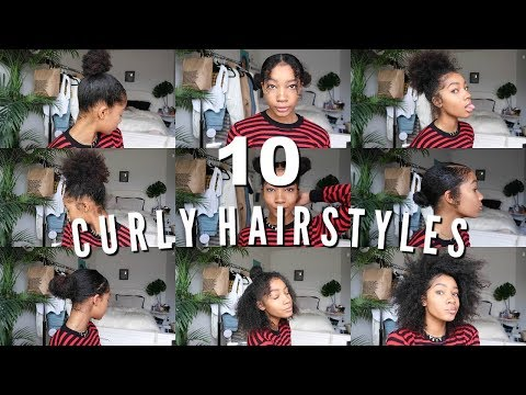10 EASY CURLY HAIRSTYLES | Natural Hair 2018