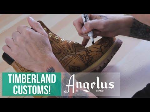 Custom Timberlands | Angelus Dye Liners | Angelus Suede Dye