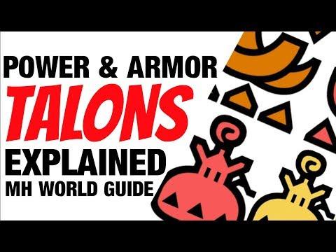 Monster Hunter World Power & Armor & Talons/Charms Guide MHW