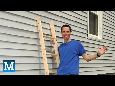 How to Make a Simple Wood Ladder