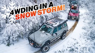 THE TRACK THAT MADE ROCKET TREMBLE ON CAMERA! HIGH COUNTRY fast, deep rivers + camping in a blizzard