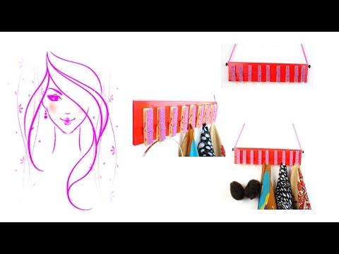 MORENA DIY: HOW TO MAKE ROOM DECOR - DIY CLOTHES PIN SCARF HOLDER