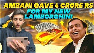 Mukesh Ambani Give Me 4 Crore Rupees Superchat For My New Lamborghini - Garena Free Fire