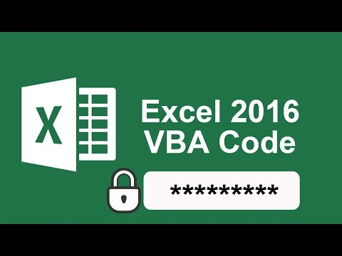 how to protect vba code in excel 2016