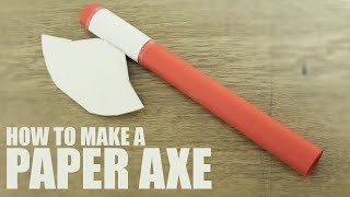 How to make a paper axe - Paper Battle Axe