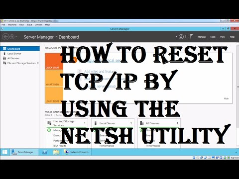 How to reset tcpip and Winsock in Windows Computers