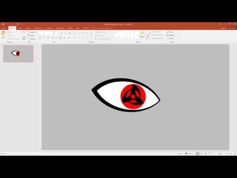 Create Kakashi's Mangekyo Sharingan using PowerPoint