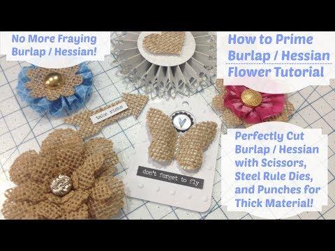 DIY - How to Stiffen Burlap - Burlap Flower Tutorial