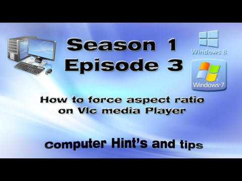 How to force aspect ratio on Vlc media