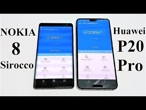 Huawei P20 Pro vs Nokia 8 Sirocco - BENCHMARK COMPARISON