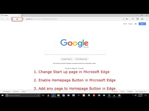 Make Google Your Homepage On Microsoft Edge | Enable Home Button In Edge
