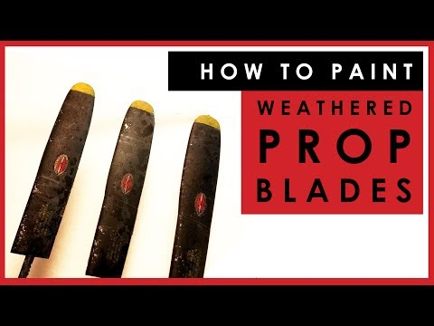 How to paint and weather realistic propeller blades on scale model aircraft