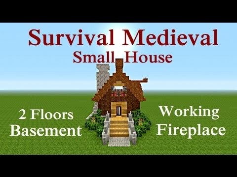 Minecraft Tutorial : Survival Small Medieval House