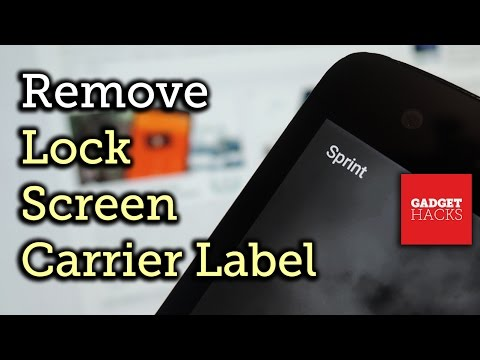 Remove Android Lollipop's Lock Screen Carrier Label [How-To]
