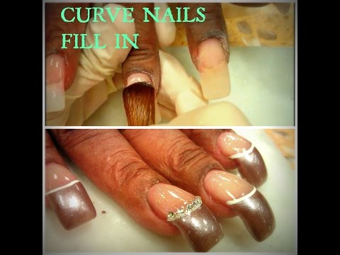 ACRYLIC NAILS FILL IN TUTORIAL ON CURVE NAILS