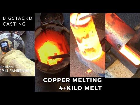 MELTING 4+ KILOS OF COPPER - HUGE CRUCIBLE FAIL - MOLTEN COPPER