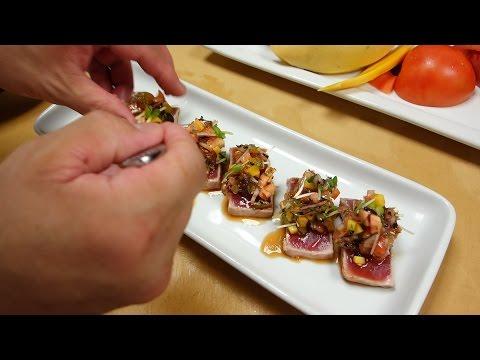 Seared Tuna With Mango Salsa - How To Make Sushi Series