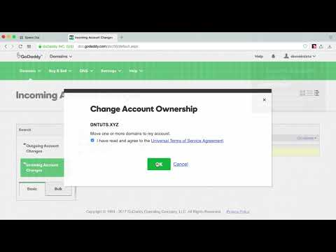 Quickly Push a Domain From One GoDaddy Account to Another