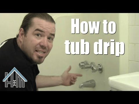 how to fix a dripping drippy tub shower. Easy! Home Mender