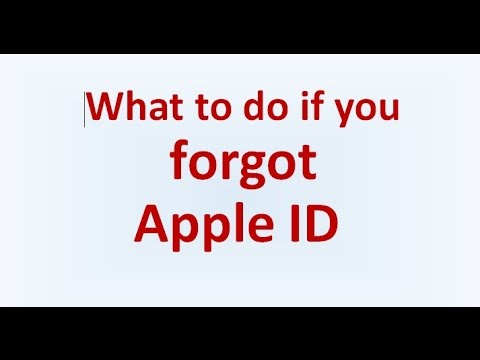 What to do if you forgot apple id - how to find forgotten apple id email 2017