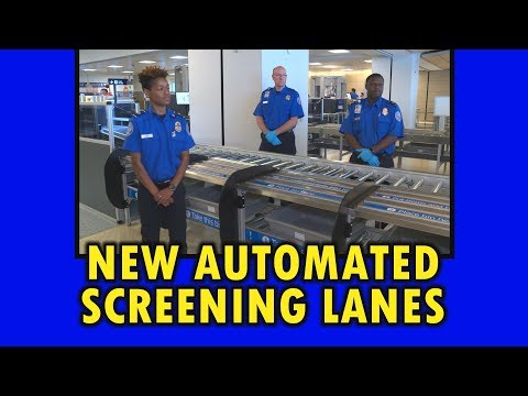 Automated Screening Lanes Open at DFW Airport