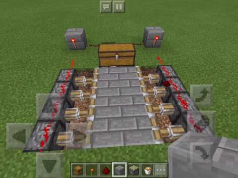 How to Make a Trapped Chest Pitfall Trap (Minecraft PE)
