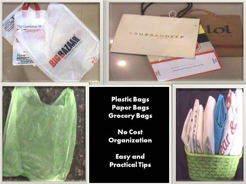 How to organize Plastic and Paper bags|In Hindi -DIY No Cost Organization