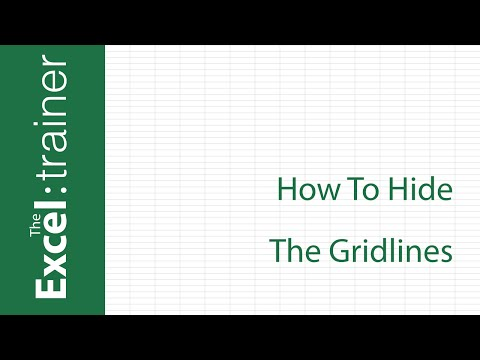 Excel 2016 for Mac - How To Hide The Gridlines