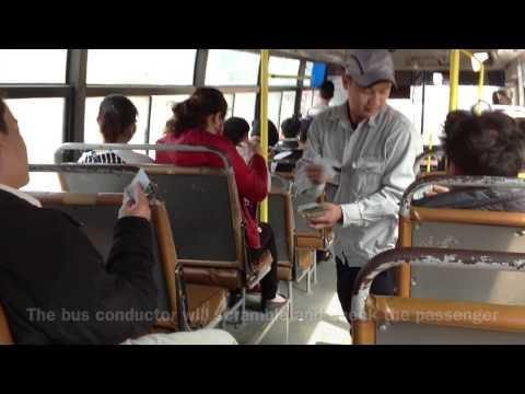 Taking Public Bus from Noi Bai Airport Vietnam to Hanoi City Center - 2013