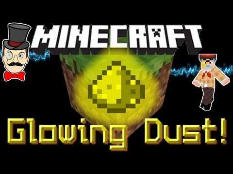 Minecraft 1.8 GLOWING DUST Mod! Throw Glowstone Dust to Light Dark Caves & more !
