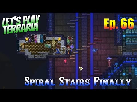 Let's Play Terraria 1.3 (S2) Ep. 66 - Spiral Stairs Finally
