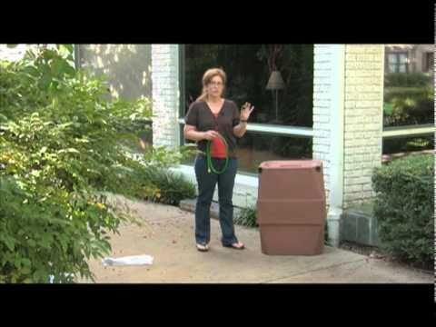 47 gallon Harbor rain barrel review: rainwater harvesting and collection