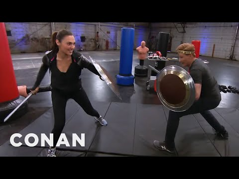 Conan Works Out With Wonder Woman