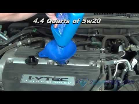 Oil Change & Filter Replacement Honda Accord 2003-2007