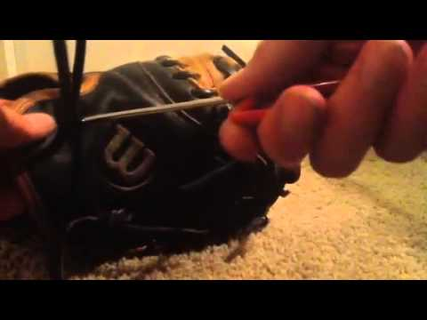 How to lace the wrist of a catchers mitt