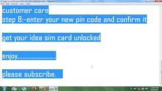 How To Unlock Your Idea Sim Card Using Puk Code