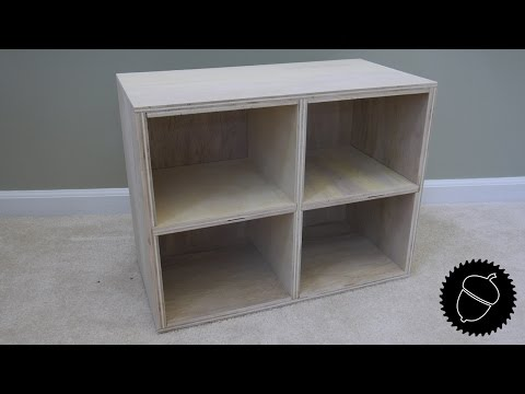 How to Make a Wooden Cubby   Great Storage Project!