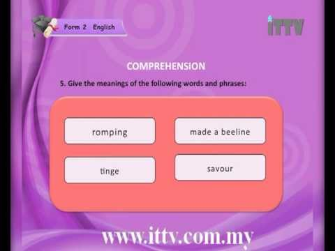 iTTV PMR/PT3 Form 2 English #1 Good Times Together (Listening) -tuition