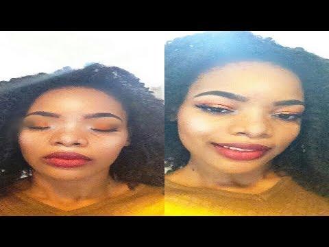 Half Cut Crease and Bold Lips Makeup Tutorial, Fall Makeup | GoldQueen Queency