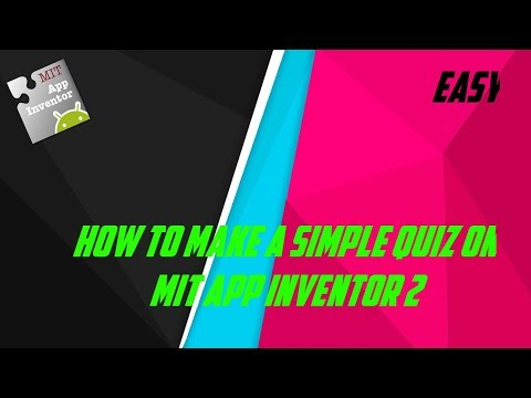 How to make a quiz on MIT App Inventor 2 #36
