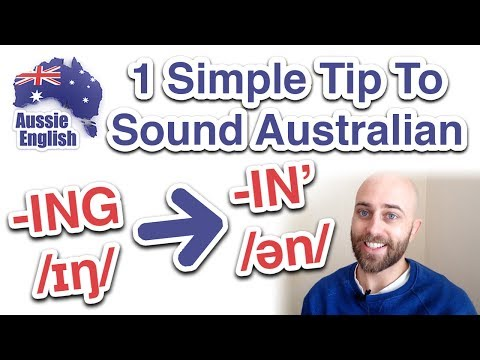 How to pronounce -ING in English | Aussie Pronunciation | Australian Accent