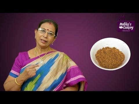 Kopra Podi in Tamil | Mallika Badrinath Recipes | Grated Dry Coconut Powder